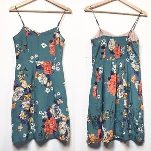 Anthropologie Moulinette Soeurs Floral Silk Dress
